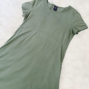 Gap Maternity A-Line Dress in Olive